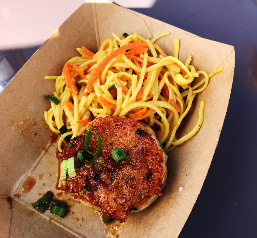 Thailand - Seared Shrimp and Scallop Cake with Cold Noodle Salad – $5.00,  DDP Snack Eligible
