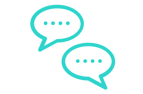 Icon of two speech bubbles