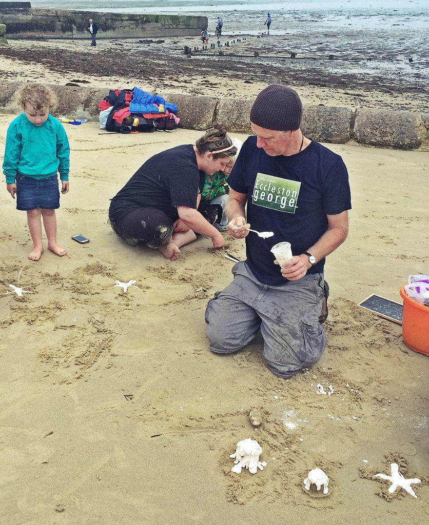 Sandcasting with Nigel George from Eccelston George & Artecology