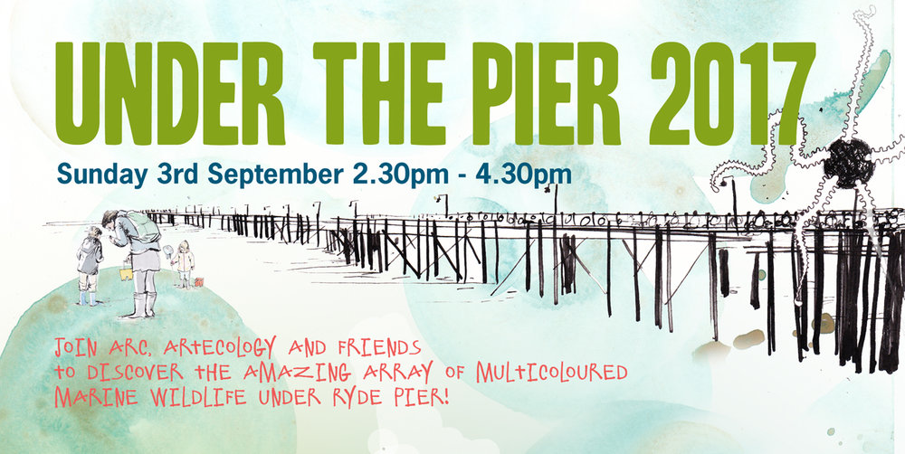 Under The Pier artwork inspired by our finds and visitors... artist Hannah George - Makings