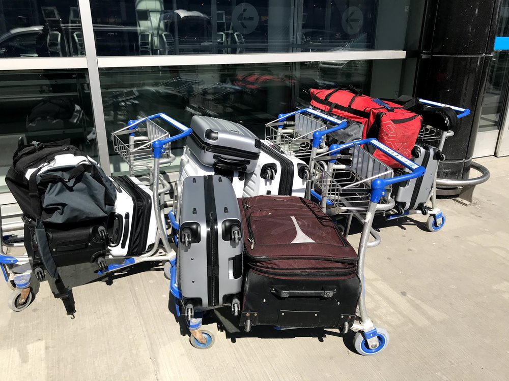 I was joking with people that we needed that amount of luggage for a 4 days trip to Rome.