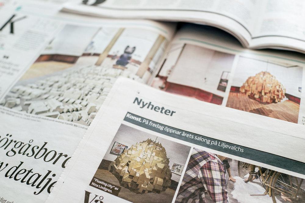 Svenska Dagbladet, Dagens Nyheter, Upsala Nya Tidning