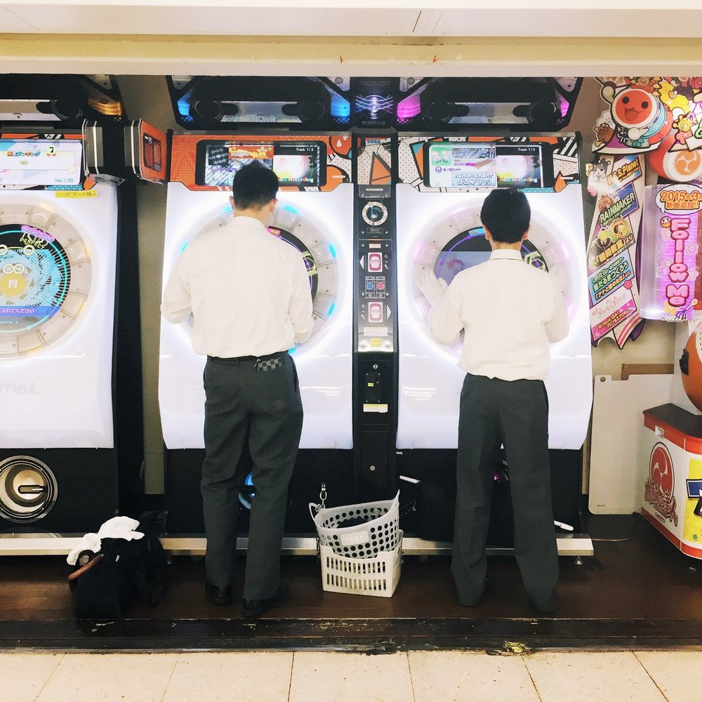 Washing machine (?) Game at Taito