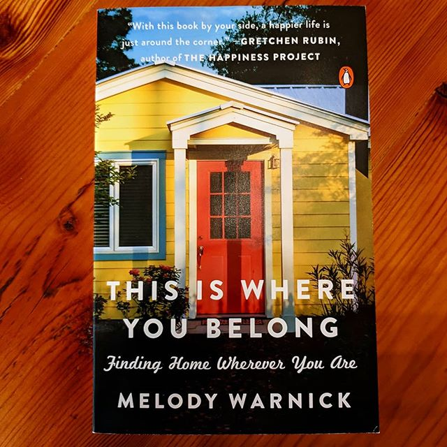 Contentment Recipe included! I just attended Melody Warnick's book signing and talk. Her story and her ideas about how we can become settled in the place we currently live--and even fall in love with our town--are practical and inspiring!  #melodywarnick #home #belonging #belongingbook #thisiswhereyoubelong