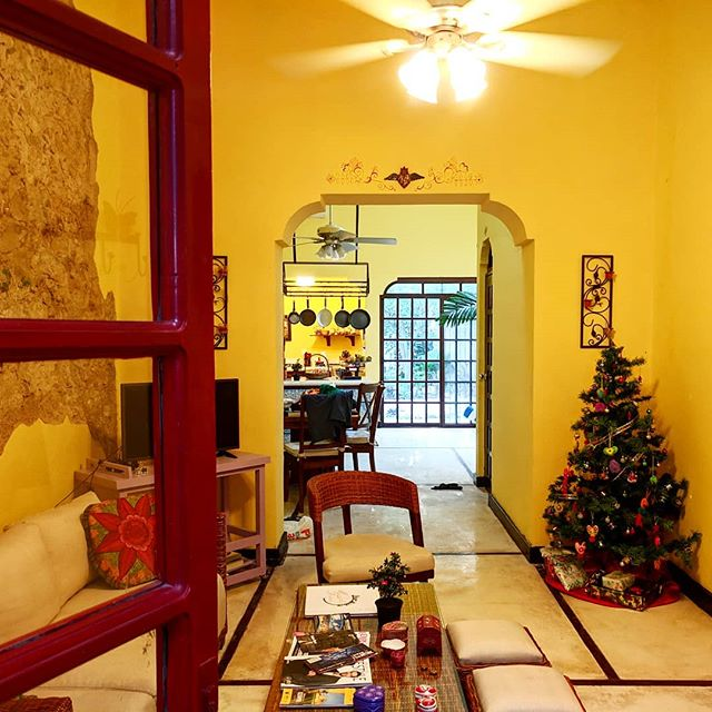 Our Christmas home away from home--complete with a Christmas tree!  #christmastree #merida #mexico