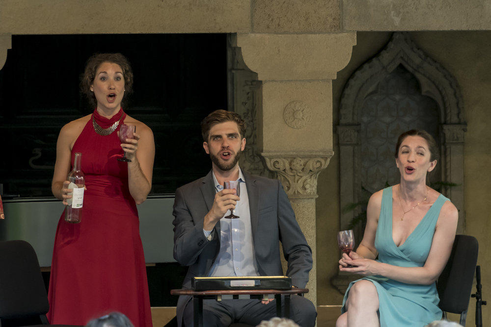 Celine Mogielnicki, Jesse Malgieri and Alison Cheeseman in an Apprentice Artist performance at Caramoor (photo © Gabe Palacio)