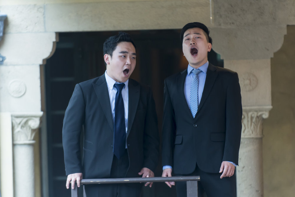 Sungwook Kim and Junhan Choi in a Young Artist concert at Caramoor (photo © Gabe Palacio)