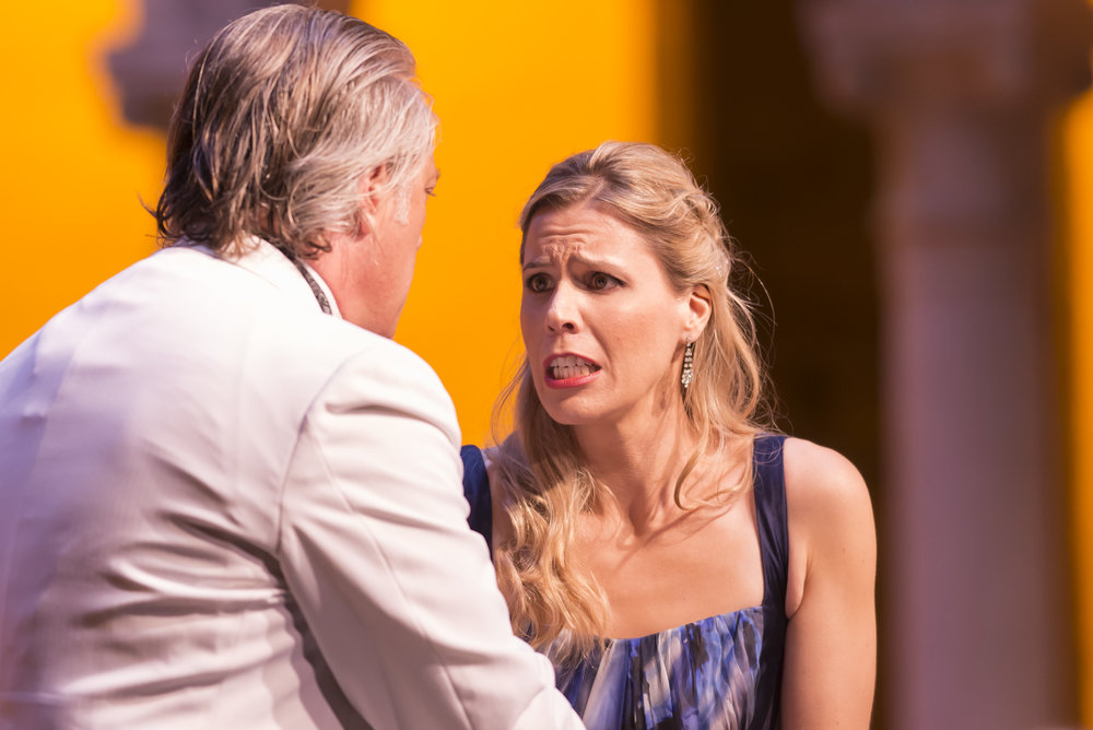 Stephen Powell and Georgia Jarman in Rigoletto at Caramoor (photo by Gabe Palacio)