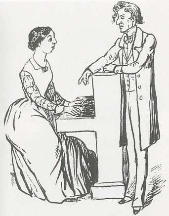 Maurice Sand: Chopin giving a lesson to Pauline Viardot