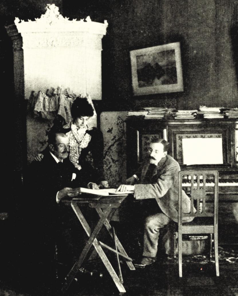 Jean de Reszke, Amherst Webber, and Madame de Reszke