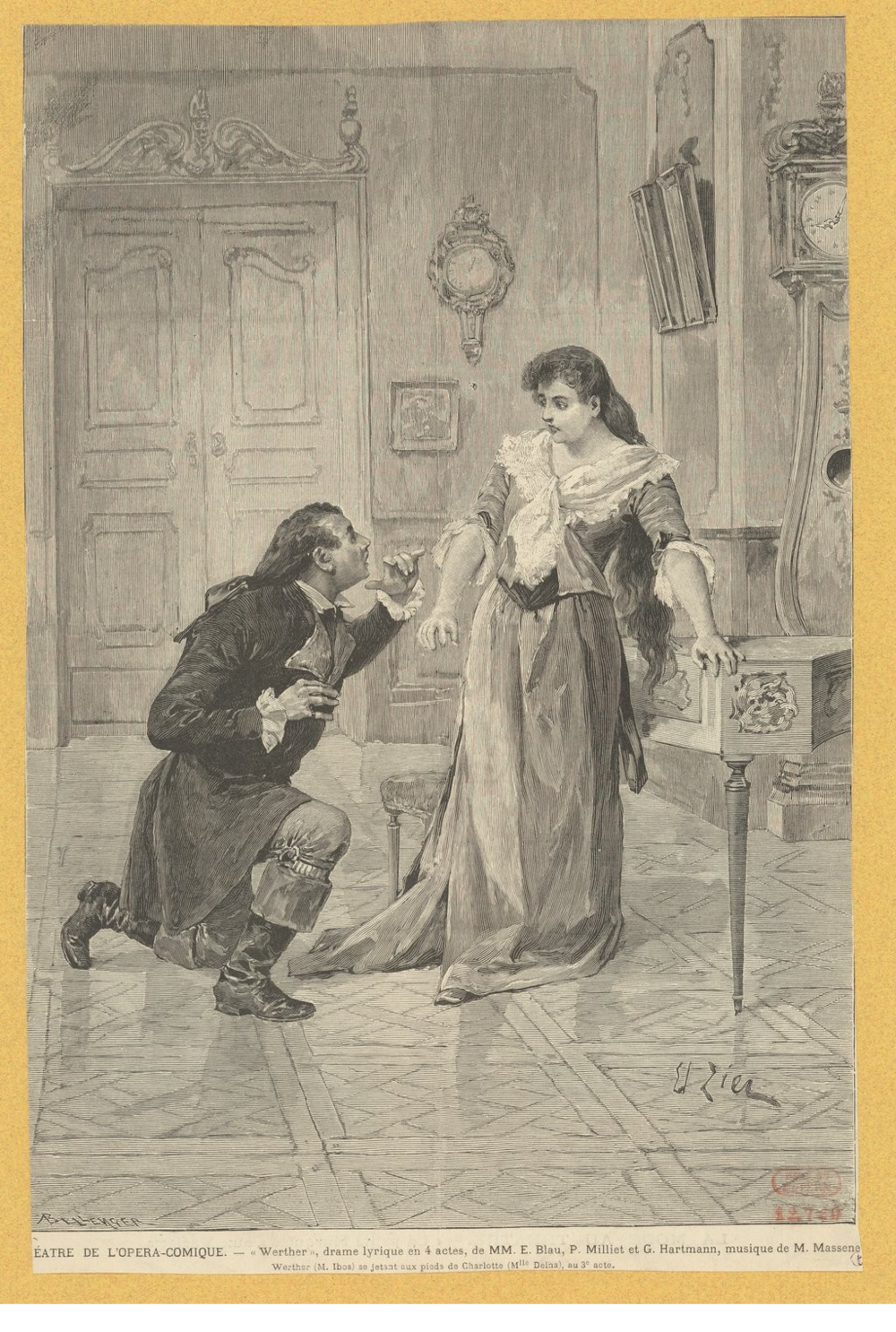 Delna as Charlotte (with Guillaume Ibos as Werther)
