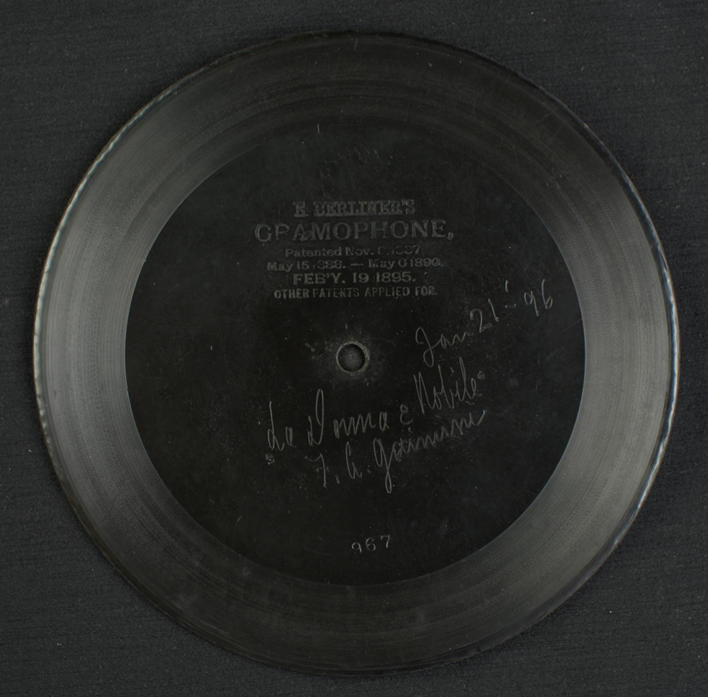 Giannini's first record (1896)