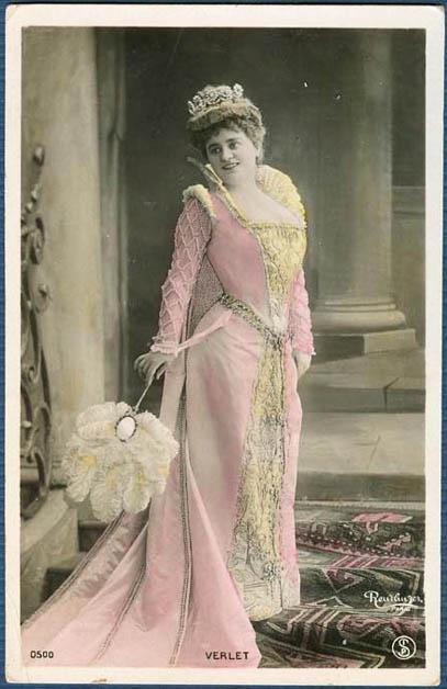 Verlet - Reutlinger postcard portrait