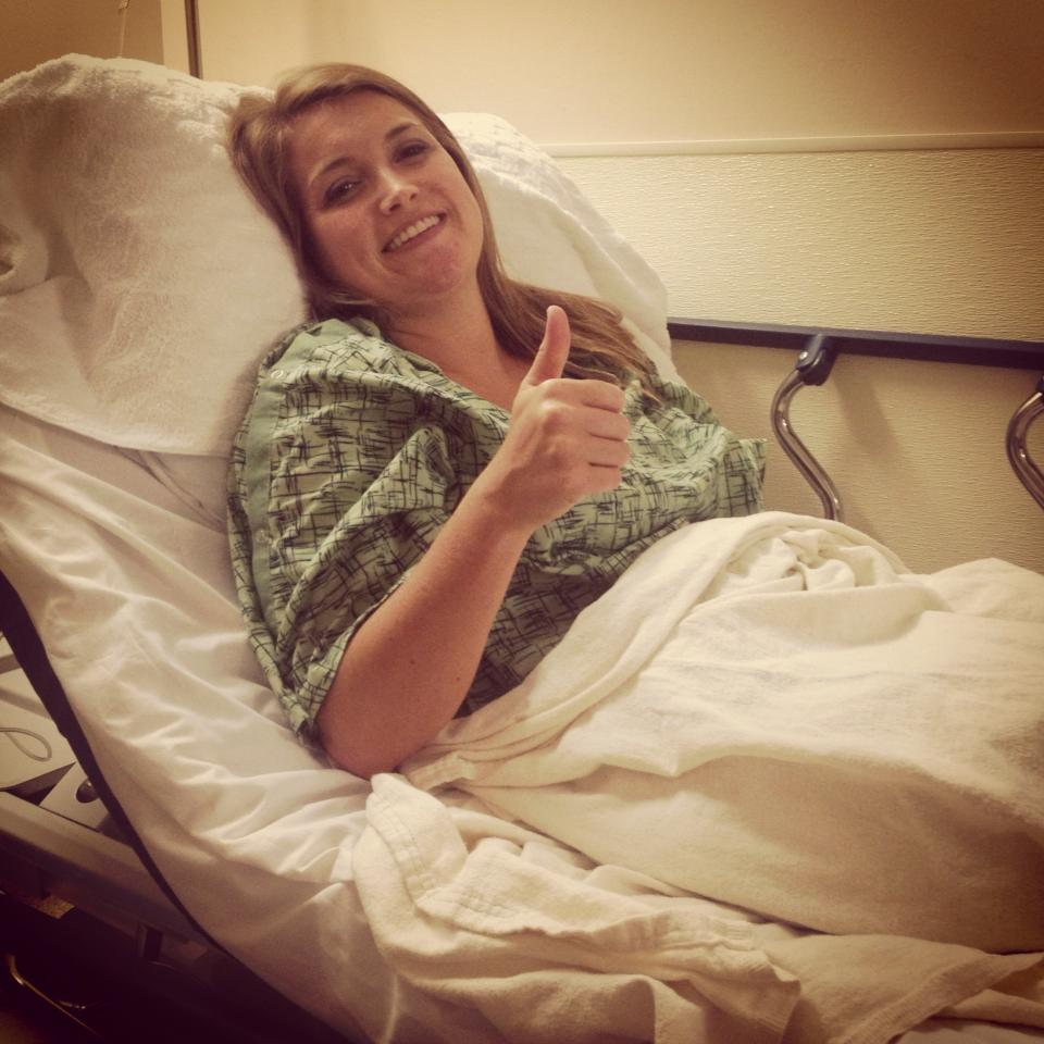 Right after an endoscopy and colonoscopy from a flare. Always trying to stay positive, even after anesthesia!