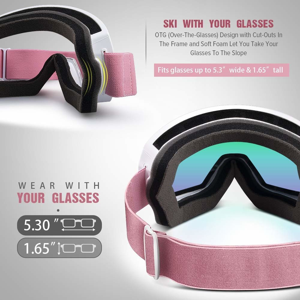 76dc42e6c8d2 OTG OutdoorMaster Ski Snowboard Goggles - Designed For Men
