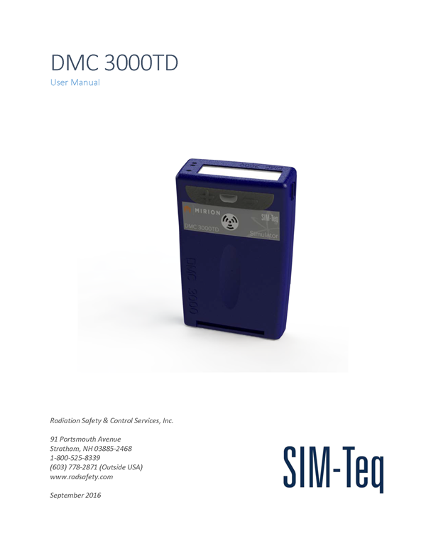 DMC 3000TD User Manual