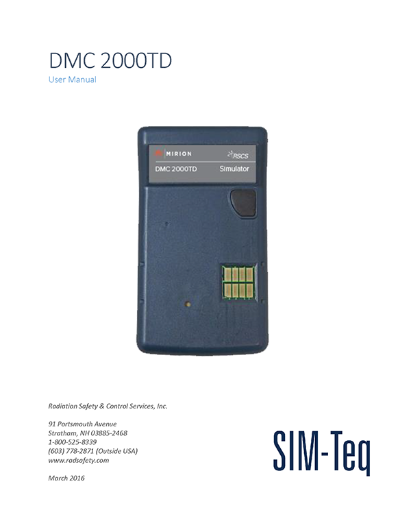 DMC 2000TD User Manual