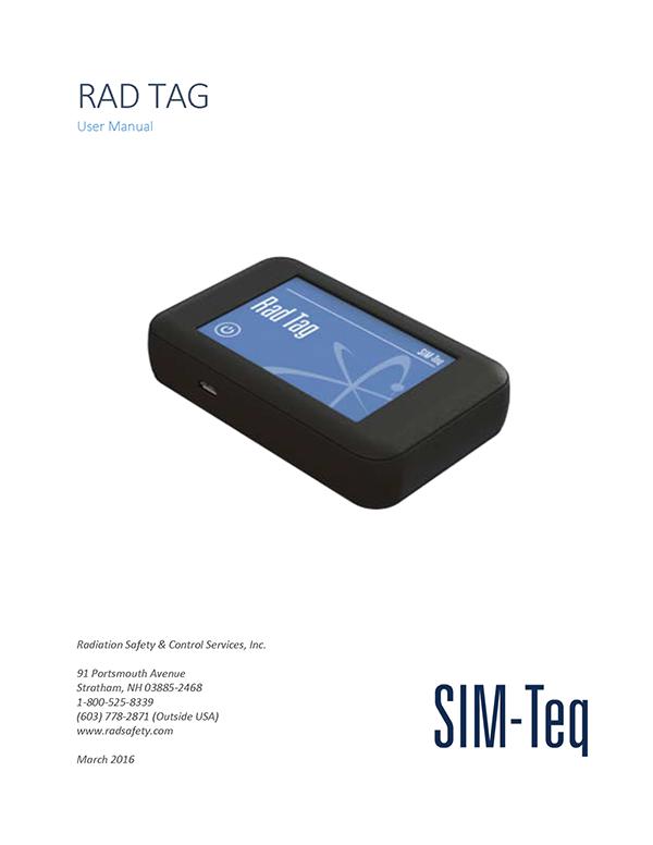 Rad Tag User Manual