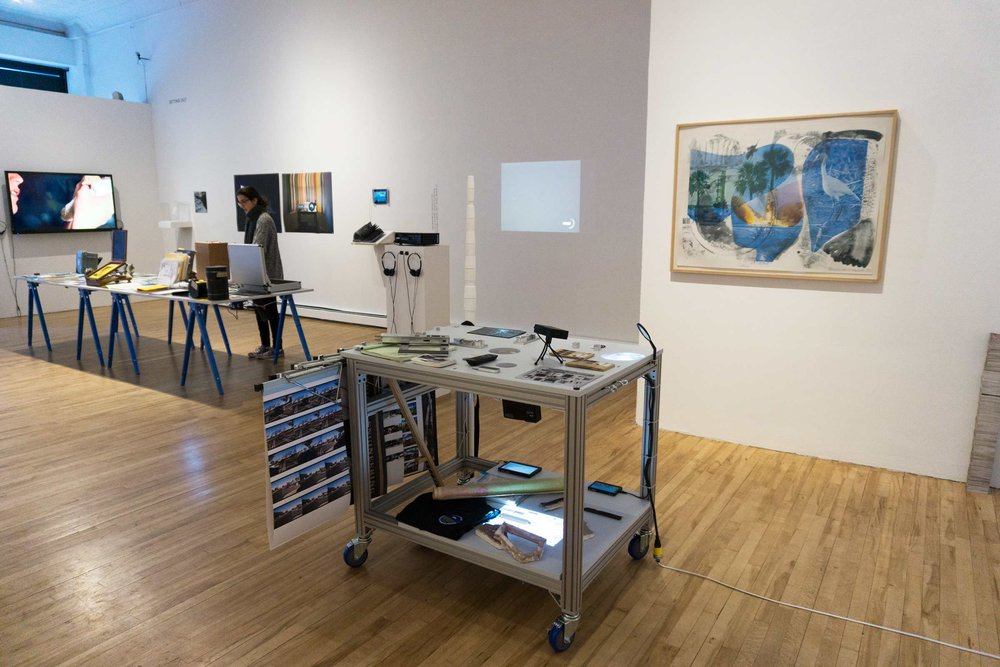 from left to right: Agnes Meyer Brandis, Annabel Elgar, James Balog, X-Hunters, Claudia O'Steen, Heidi Neilson, Katie Paterson, Robert Rauschenberg, Technological Landscapes Research group