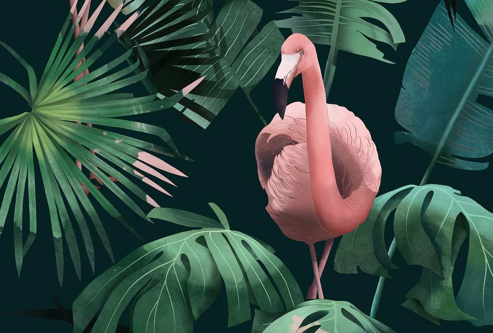 OFF TO THE ZOO_ - Bespoke wallpaper