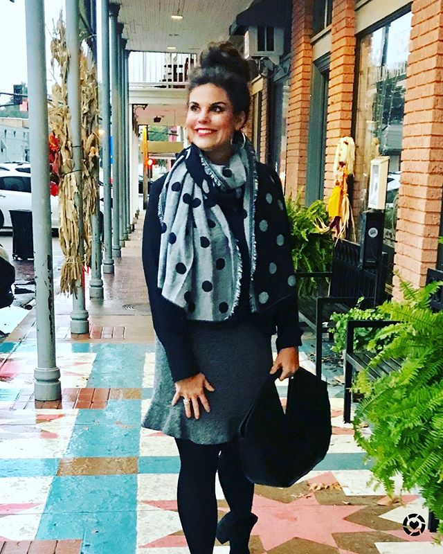 These cooler temps mean so much more after the age of 50 lol! Scarves are my favorite way to accessories and this one is on sale! Shop my look from tge Free LIKEtoKNOW.it app. Screen shot this photo or search for my Southern Shine 2017 http://liketk.it/2y5kM #liketkit @liketoknow.it #holidayoutfit #over40styleblogger #microinfluencers #over50styleblogger #southershine #zebratent #over30style #fashionatanyage #mississippi #polkadot #workoutfitideas #southernstyle