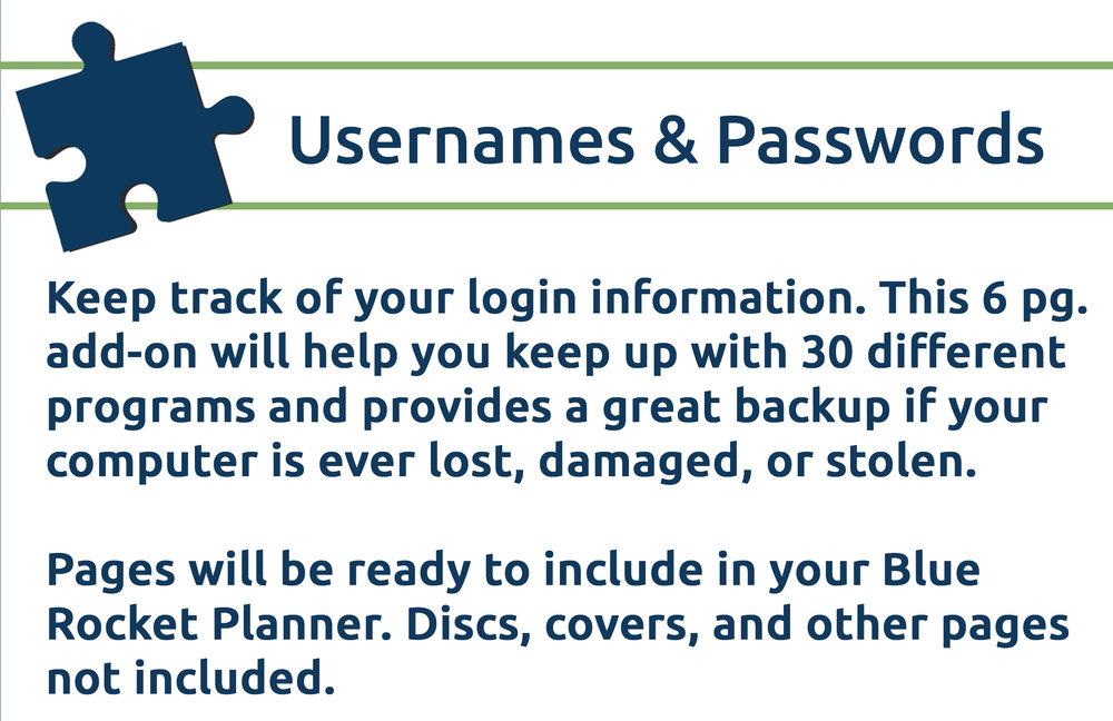 Username & Passwords Banner