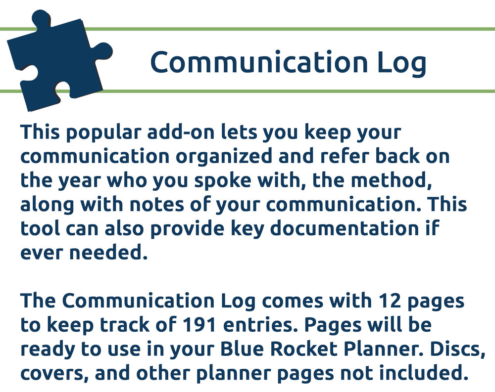 Communication Log Banner