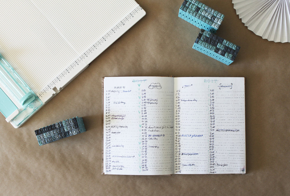 I love making my own planners.