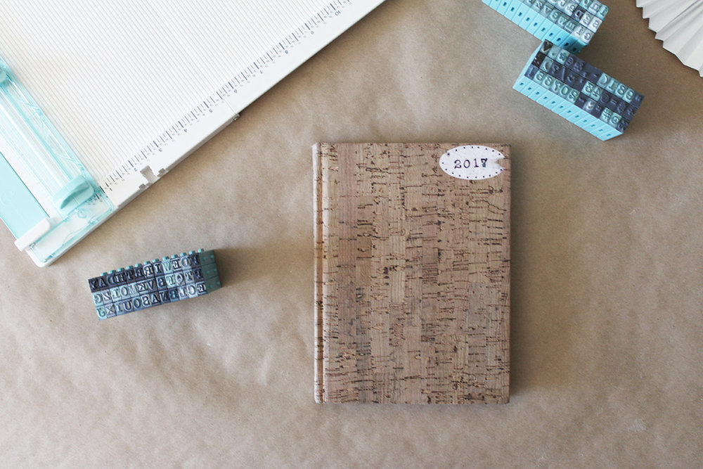 A simple blank notebook can be transformed into a beautiful personalized calendar