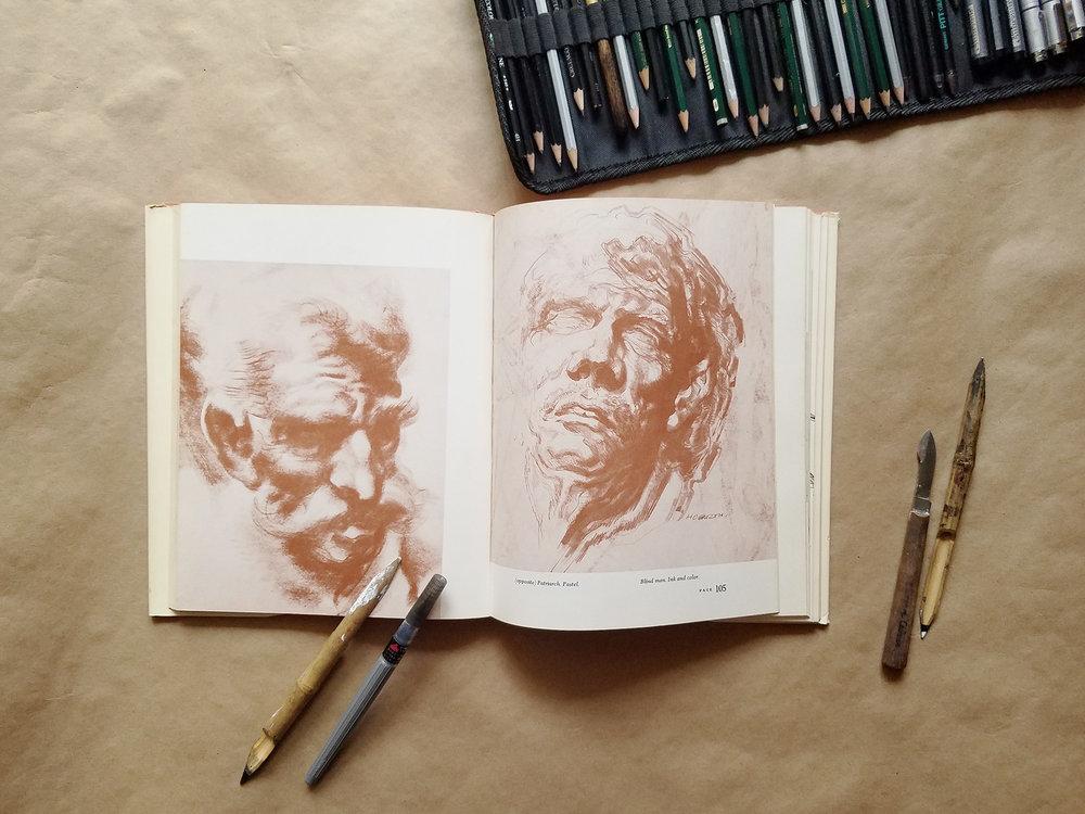 "Beautiful illustrations in ""Dynamic Anatomy"""