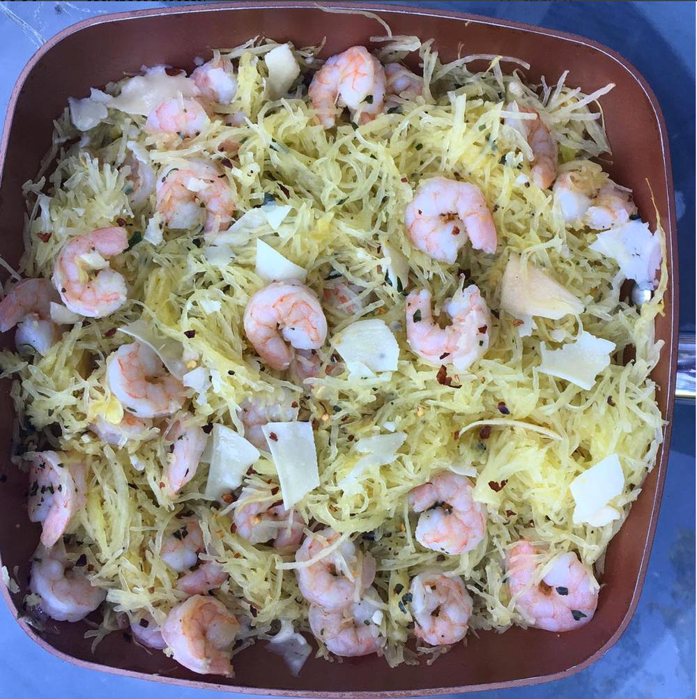 truffle shrimp & spaghetti squash