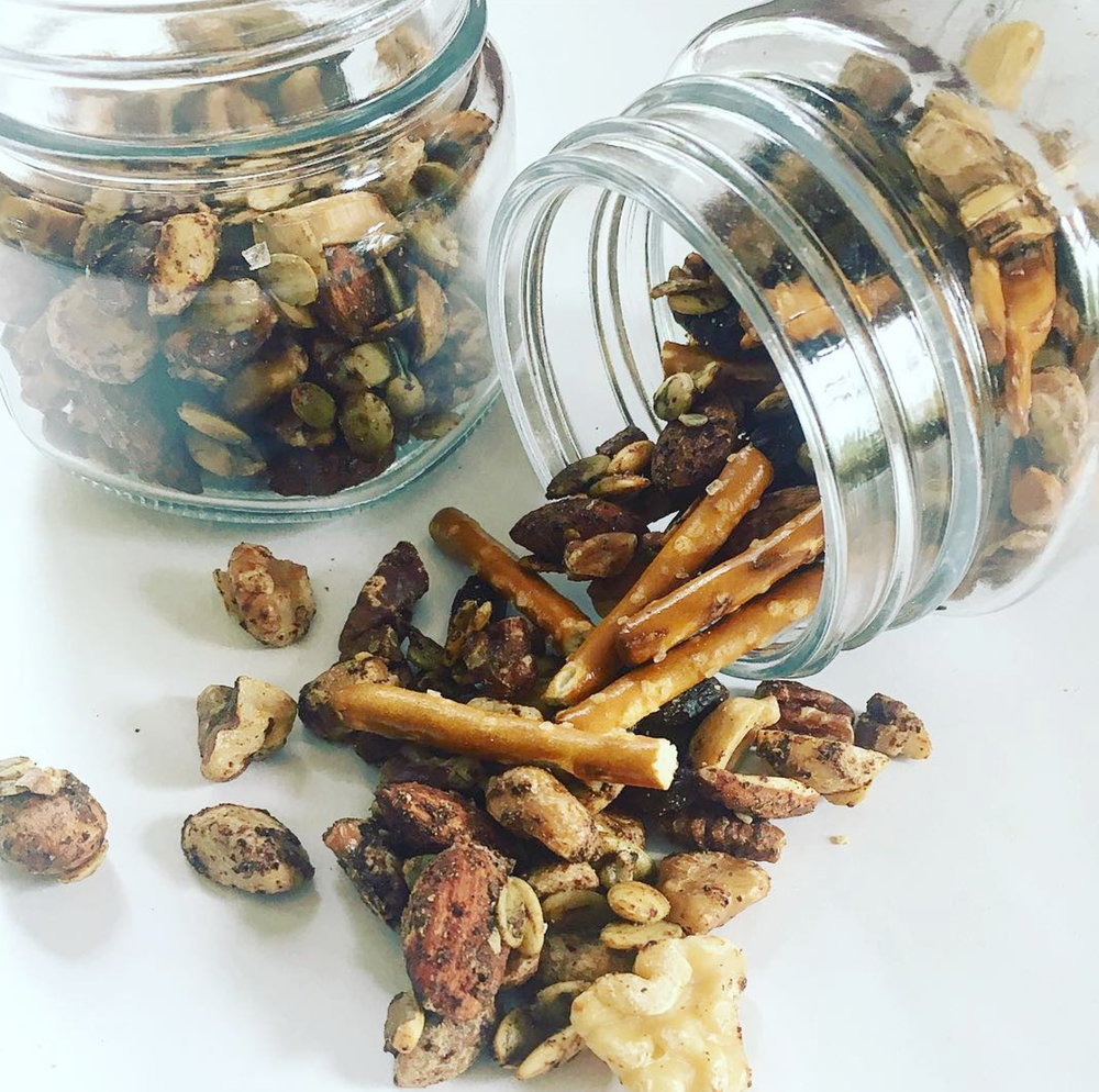 autumn-spiced nuts