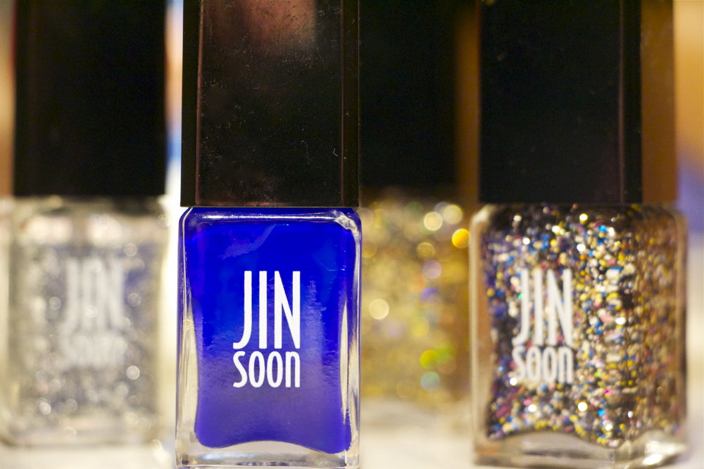 - we LOVE GLITTER! Jin Soon has an amazing selection. Glace'is gorgeous.