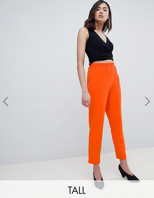 ASOS DESIGN- Pull on Tapered Pants