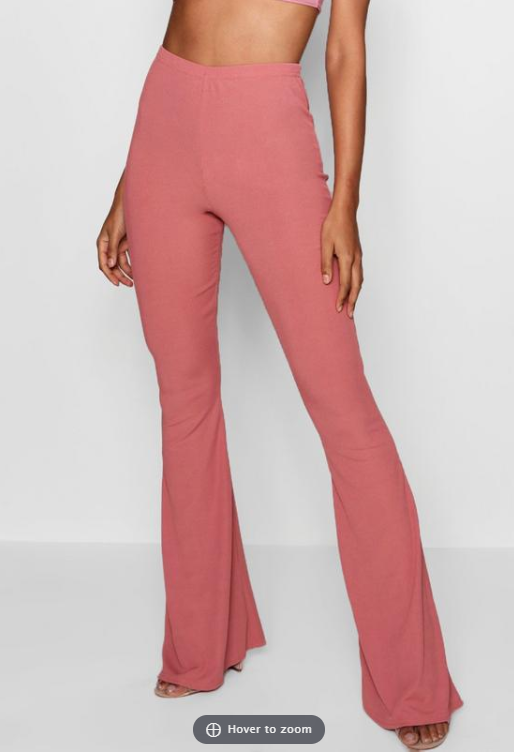 Boohoo- Longer Length Rib Slinky Flare