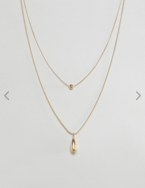 ASOS DESIGN- Multirow Necklace