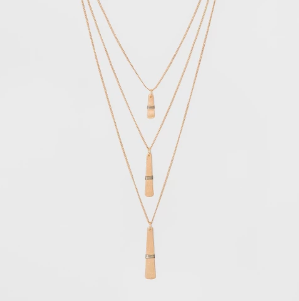Target- Multi Row Wrap Layered Necklace