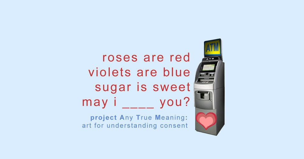 Project Any True Meaning (ATM) - interactive art, 2016 - present  Project ATM is an on-going global interactive art project that repurposes out-of-service ATMs for poetic purposes. Emily serves as creative director and project manager for Project ATM.