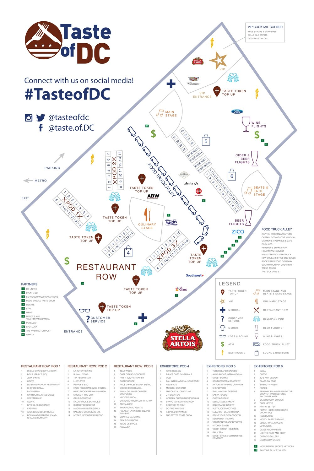 2017 Taste of DC Festival Map