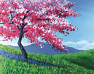 Pink Spring Tree