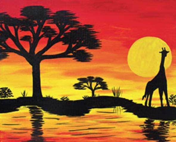 Giraffe Safari 16 x 20