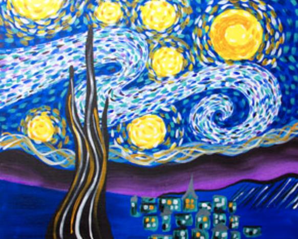 Starry Eve - 16 x 20