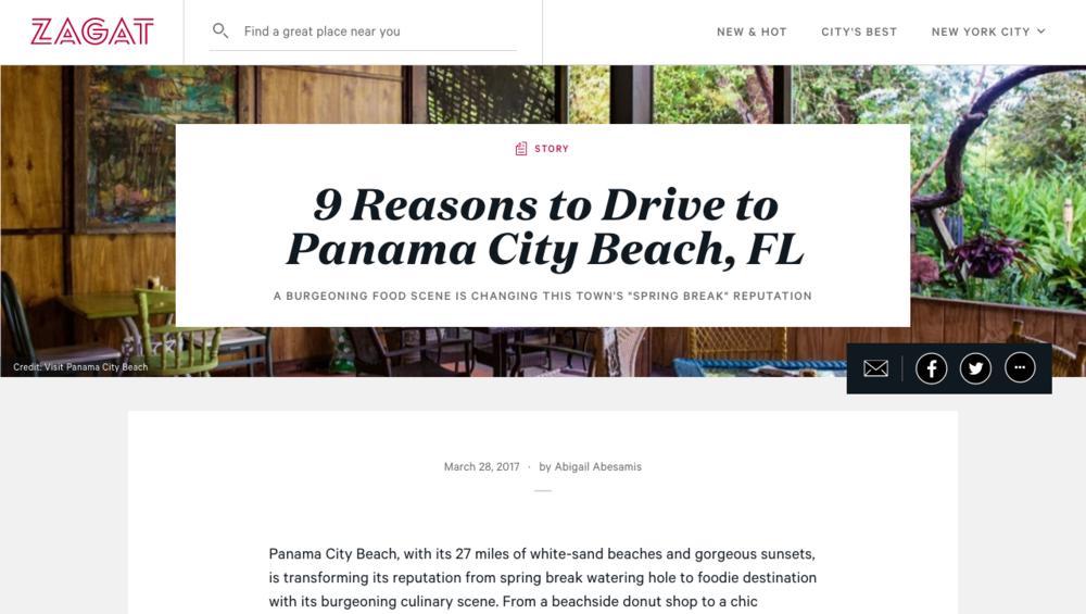 Panama City Beach Zagat