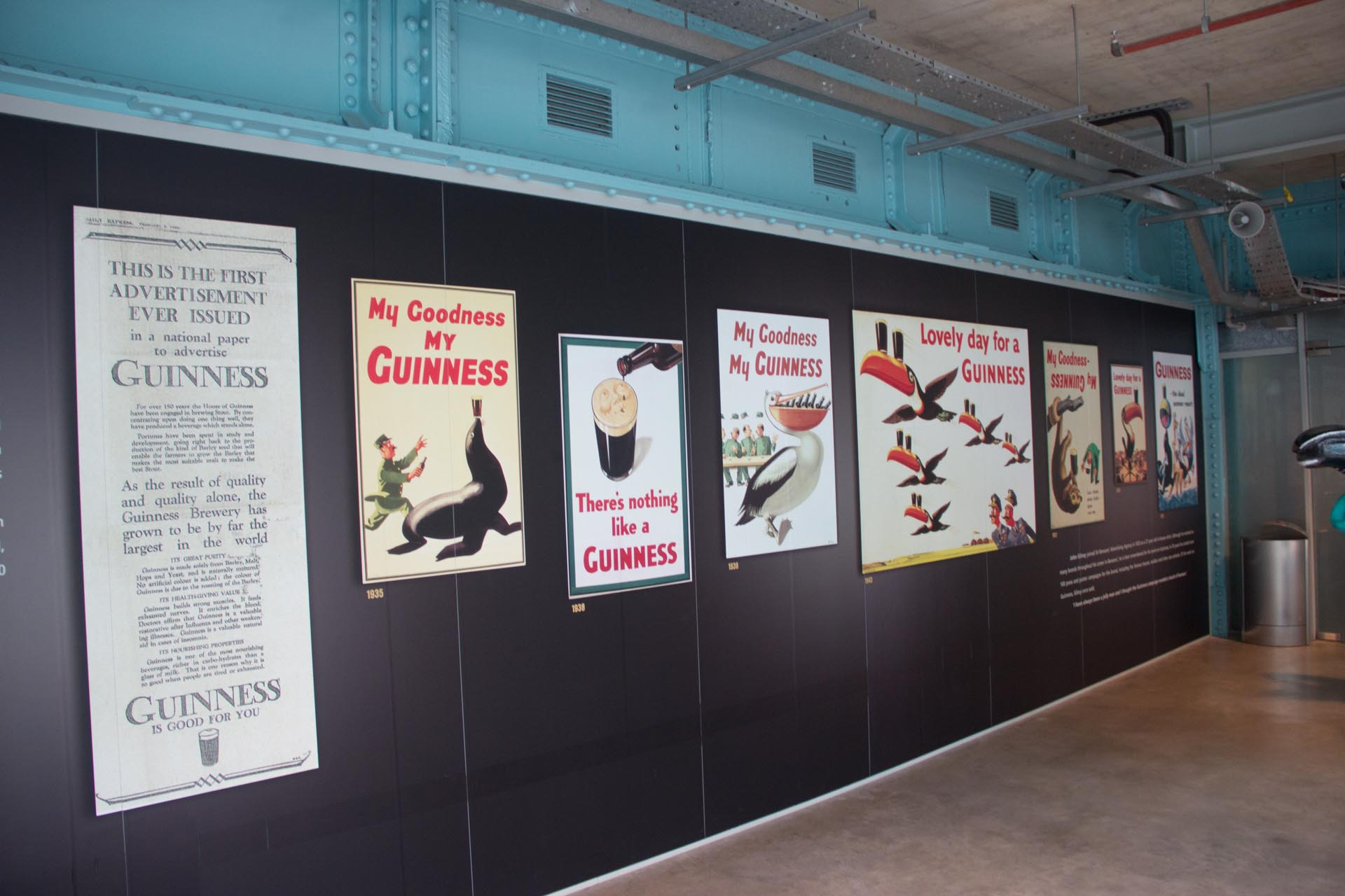 Poster advertisements for Guinness