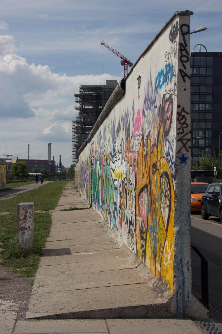 Here begins the longest still standing section of the Berlin Wall.