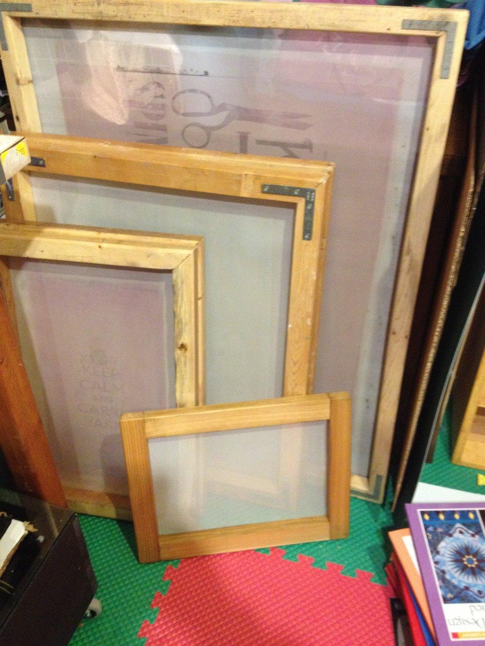 homemade screen printing frames