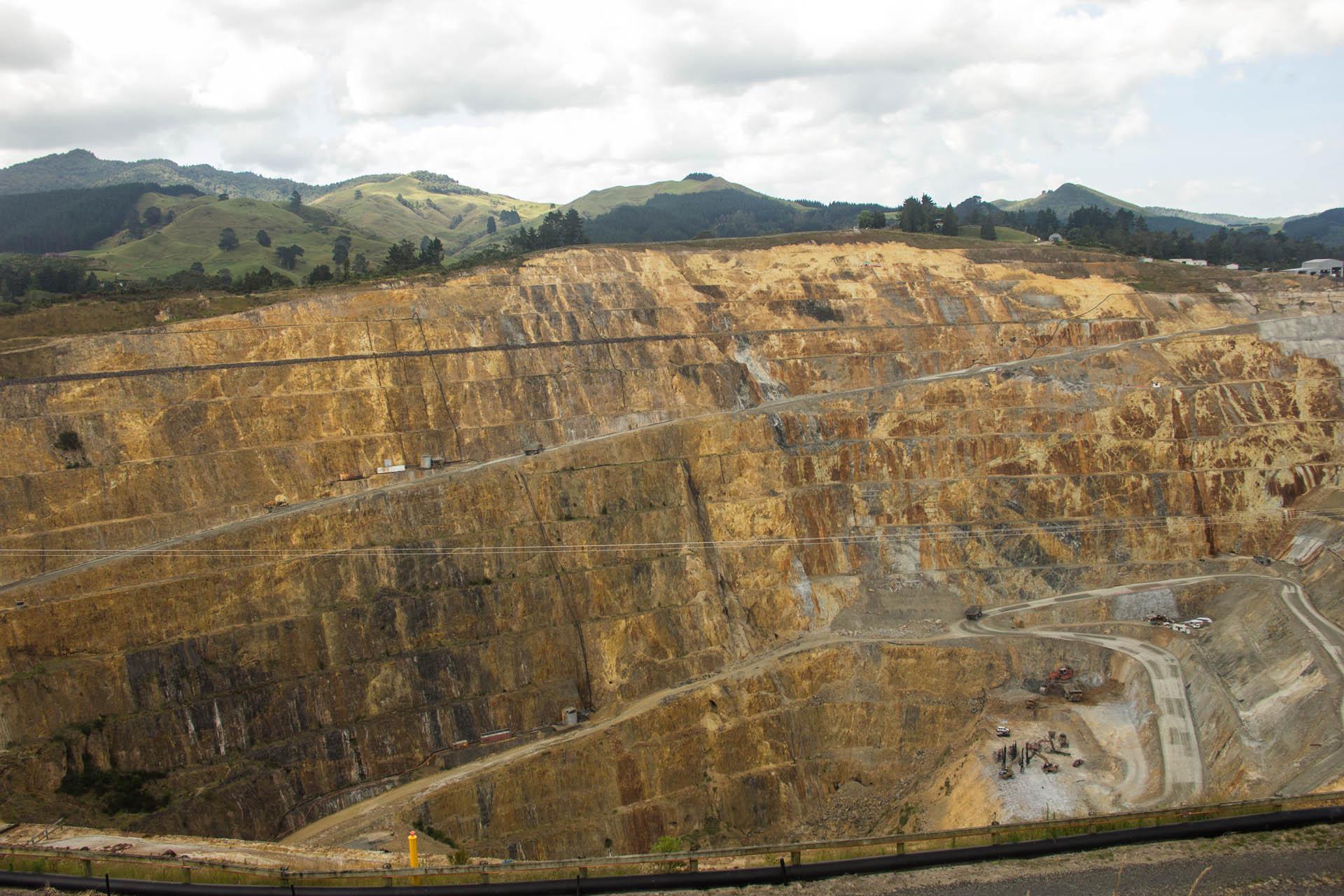 open pit mine in new zealand