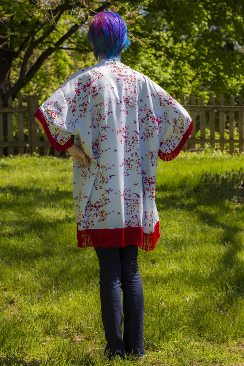 back of kimono sun cover tutorial