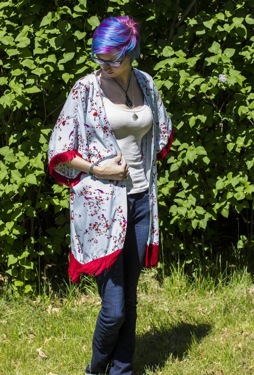 handmade kimono sun cover sewing project