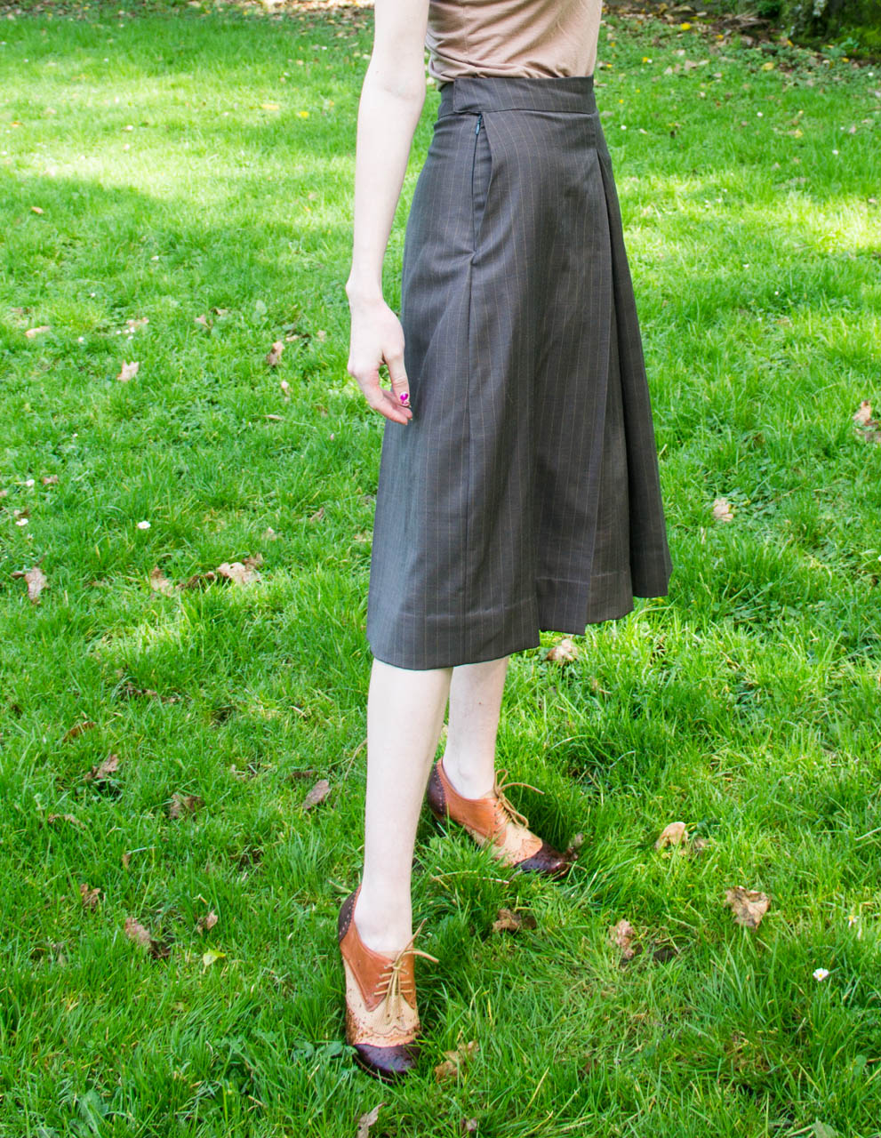 vintage drafted culottes